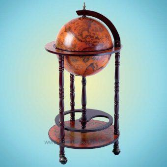 globe map wine storage
